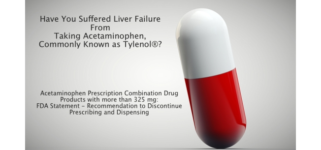 Acetaminophen or Tylenol® may cause Liver Failure